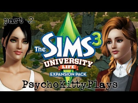 Let's Play: Sims 3 University Life. Part 2. Bonfire Party.