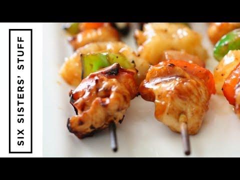 Easy Hawaiian BBQ Chicken Kabobs on the Grill