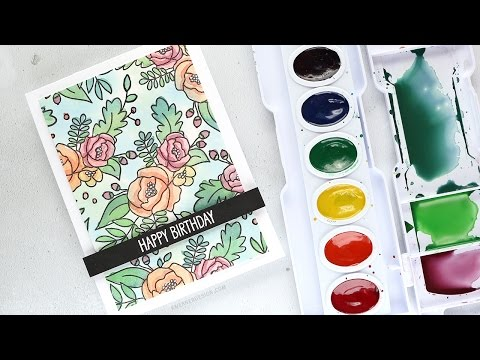 Mixing Custom Colors for Watercolor Painting - Example 1