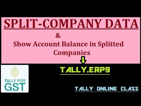 Split Co. Data Monthly/Yearly in Tally.ERP9