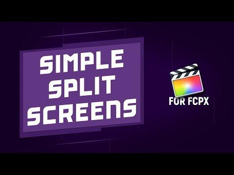 Simple Split Screens for Final Cut Pro