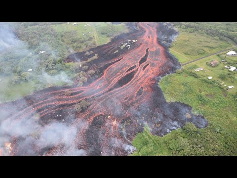 Kilauea volcano covers about 2,400 acres in lava