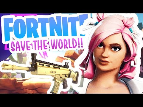 CAN WE CRAFT THE GOLD SCAR?! (Fortnite Save the World) [#4]