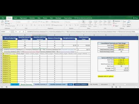 Inventory Management in Excel: Including Revenue/COGS/Gross Profit