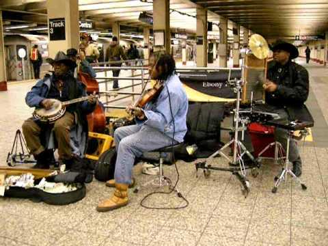 The Ebony Hillbillies at Times Square Subway Station