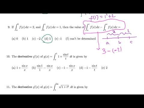 Calc I: Multiple choice questions on basic integration