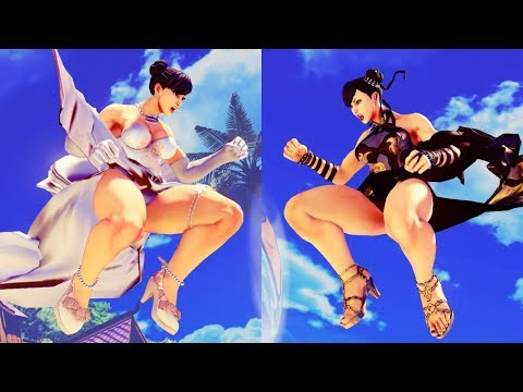 Street Fighter V New Akiman Chun Li Wedding and Covert Operations Outfits All Colors