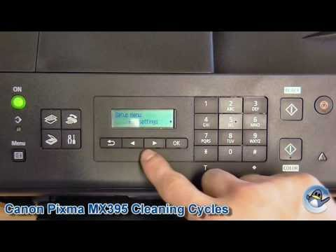 Canon Pixma MX395: How to do Cleaning and Deep Cleaning Cycles