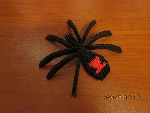 3D Origami Black Widow Tutorial