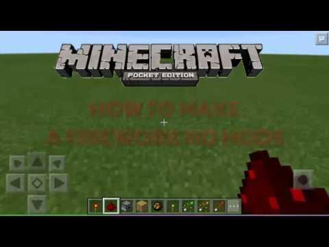 Minecraft:Pocket Edition How To Make Firework [No Mods/No Pc]