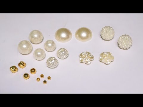 5 Beautiful Designer Pearl Earrings Making At Home | DIY | Hand Made Pearl Jewelry | uppunutihome