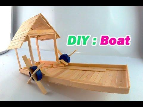 DIY Boat Using Popsicle Sticks