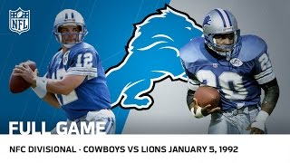 Lions Capture First Postseason Win Since 1957   1991 Divisional Playoffs   NFL Full Game