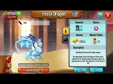 Dragon City Breeding Tutorial for Beginners | How To Breed FOSSIL DRAGON and PENGUIN DRAGON