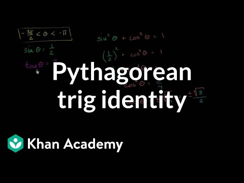 Using the Pythagorean trig identity | Trig identities and examples | Trigonometry | Khan Academy