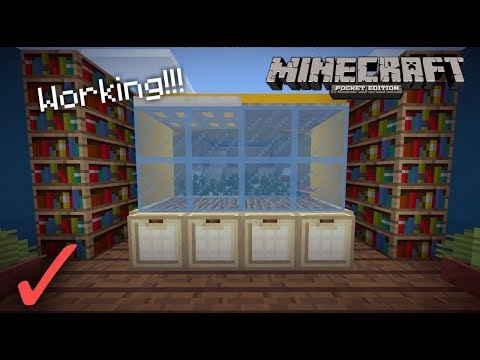 MCPE 1.3 How To Make A Fish Tank | no mods or addons | Minecraft PE 1.3