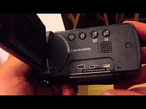 Inserting the SD memory card into my Samsung HMX-F90 video camera and where other inputs are