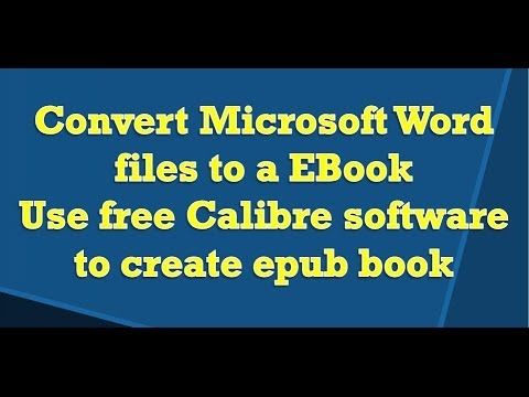 Convert Microsoft Word document to Ebook