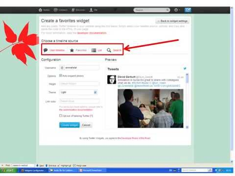 Adding Twitter Feeds and Widgets to Blackboard