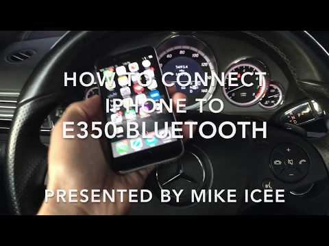 Mercedes E350 Bluetooth iPhone  🎶 MUSIC 🎵 ACTIVATION STEP BY STEP.