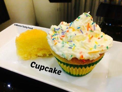Simple Vanilla Cupcake - Fluffy,Soft Vanilla Cupcake Recipe - How To Make  Vanilla Cupcake