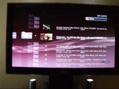 YouTube on PS3 via PlayOn
