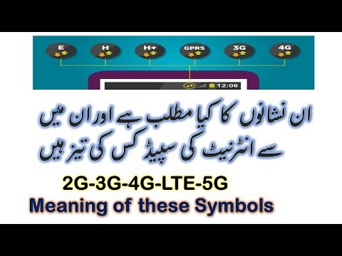 What is Meaning of G, E, H, H+,3G,4G, LTE  Internet |How Much Download and Upload Speed | Urdu-Hindi