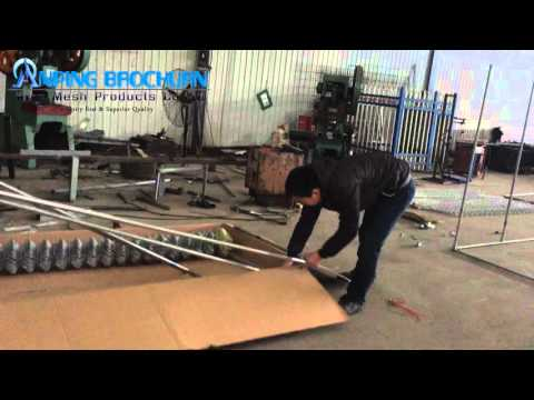 How to assemble chain link dog cage