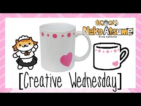 DIY NEKO ATSUME SASSY FRAN'S COFFEE CUP MEMENTO! [CREATIVE WEDNESDAY]