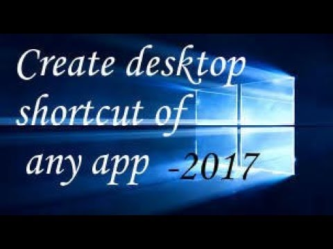 How to create shortcut in windows 10 desktop -website, desktop icon, apps shortcuts