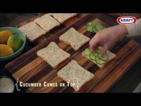 Cucumber & Lemon Dill Cream Cheese Dainty Sandwiches
