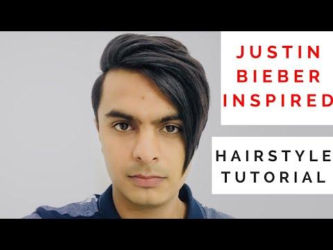 JUSTIN BIEBER INSPIRED HAIRSTYLE TUTORIAL || MEN'S HAIRSTYLING TUTORIALS 2018