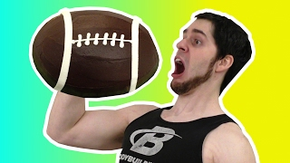EATING A FOOTBALL!!! CHOCOLATE FOOTBALL!!