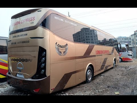 London Express MAN Business Class Bus In Depth Exterior and Interior View In Bangladesh