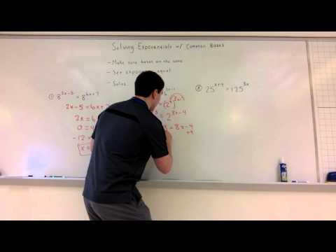 Solving Exponentials with Common Bases (8-4-2)
