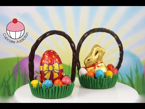 Chocolate EASTER Baskets - Make Simple No Bake Easter Treats with Cupcake Addiction