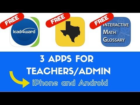 3 Apps (For iPhone and Android) for Teachers and Principals