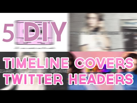 4 DIY fb timeline cover/twitter header