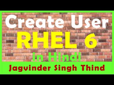 Create User in Linux - RHEL 6 in Hindi
