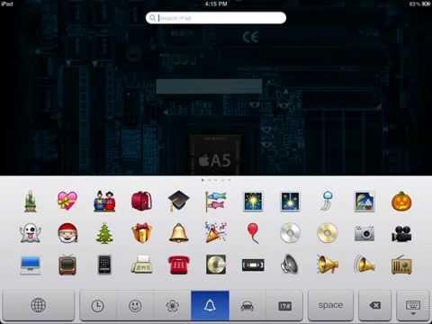 How to get the Emoticons 'Emoji' keyboard on iOS 5+ (iPod/iPhone/iPad) :-)