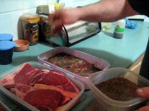 How to spice , hang and dry biltong .