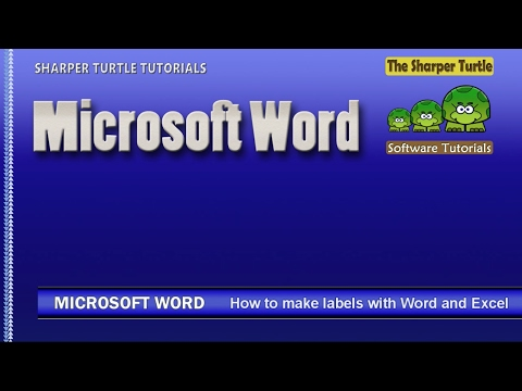 Microsoft Word - How to create mailing labels with Word and Excel