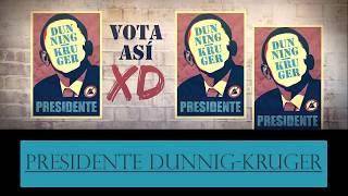 Anuncio Electoral Candidaturas Concurso Presidente Dunning-Kruger 01