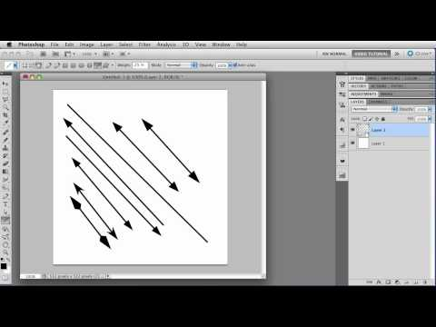 The Line Tool - Photoshop Tutorial