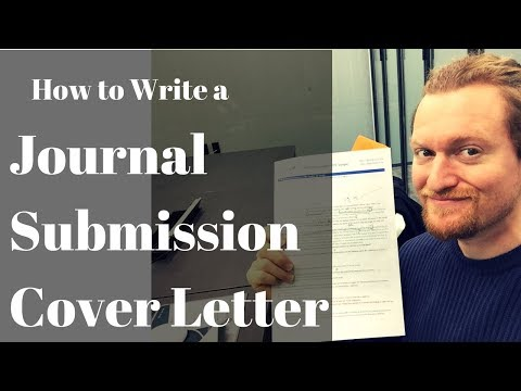 How to Write a Journal Submission Cover Letter
