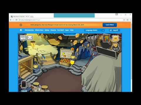 Crafty gets a Golden Puffle on Club Penguin