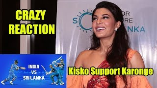 Jacqueline Crazy Reaction On India Vs Sri Lanka World Cup Match 2019