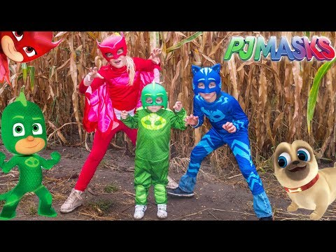 PJ MASKS Lost in a Corn Maze Gekko and Owlette Look for Puppy Dog Pals