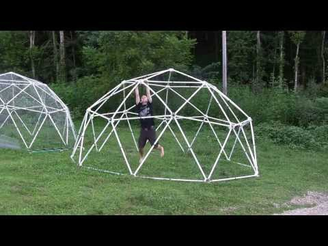 PVC Geodesic Dome Load Test