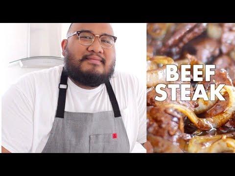 COOKING BISTEK TAGALOG | FILIPINO BEEF STEAK | RALPH XAVIER